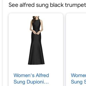 Dupioni Trumpet Gown by Alfred Sung